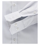 Venti Slim-Fit Regular Striped Light Grey_