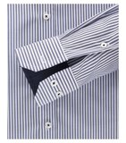 Venti Slim-Fit Regular Striped Dark Blue_