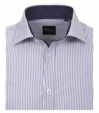 Venti Slim-Fit Regular Striped Dark Blue_