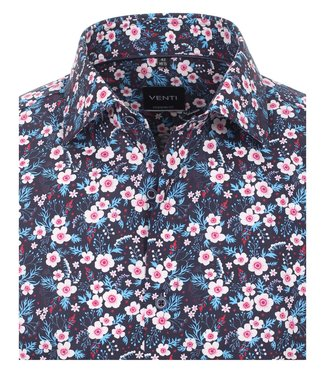 Venti Slim-Fit Mouwlengte 7 Flower Fields