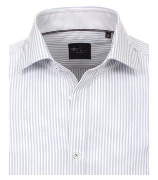 Venti Slim-Fit Regular Striped Light Grey