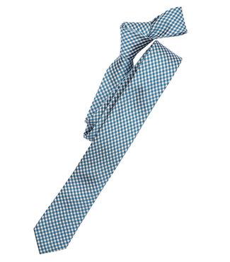 Venti Smalle Stropdas Trendy Classic Aqua Blue