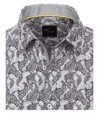 Venti Slim-Fit Limited-Edition Black Paisley