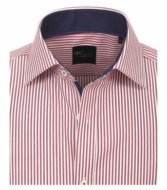 Venti Slim-Fit Regular Striped Red