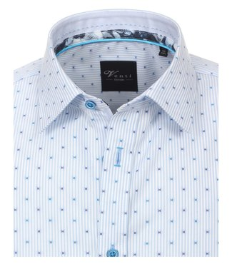 Venti Slim-Fit Mouwlengte 7 Blue Light Striped