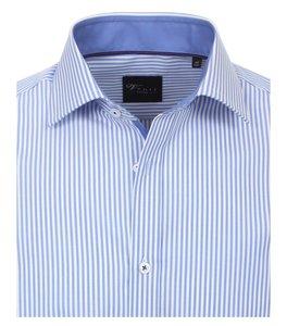 Venti Slim-Fit Regular Striped Light Blue