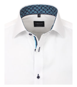 Venti Slim-Fit Mouwlengte 7 Exclusive Reef White