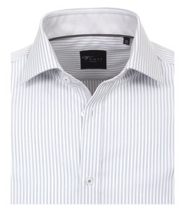 Venti Slim-Fit Regular Striped Light Grey