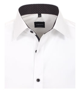 Venti Slim-Fit White Black Design
