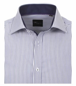 Venti Slim-Fit Regular Striped Dark Blue
