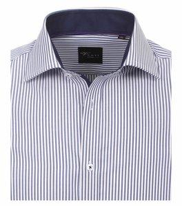 Venti Slim-Fit Regular Striped Dark Blue